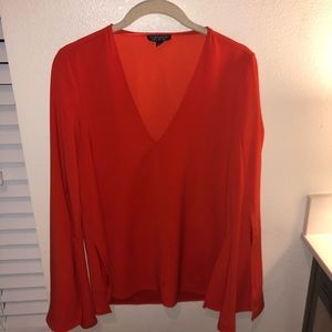 Women's Red Top Shop | Nordstrom V Neck Blouse